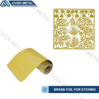 Wholesale Rolled Brass Foil Roll For Etching In A Wide Range Of Thicknesses And Widths from china suppliers