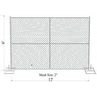 """Quality 1½""""(38mm) 1⅗""""(40mm) 1⅝""""(42mm) 1⅞"""" tubing 6'x12' cross brace 16 ga thickness mesh 2¼""""x2¼""""(57mmx57mm) temporary fence for sale"""