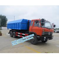 Buy cheap Hydraulic oil cylinder controlled orange color Dongfeng 6x4 20 ton used hook truck cheap price for sale from wholesalers