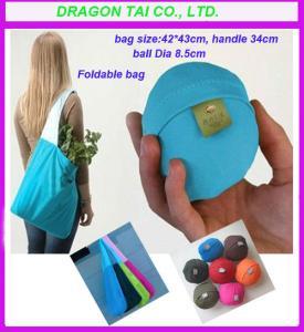 Wholesale Ball folding shopping bag, lycra shopping bag, ball shape shopping bag from china suppliers