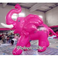 Wholesale Customized Pink Cartoon Inflatable Elephant with CE Blower for Kids from china suppliers