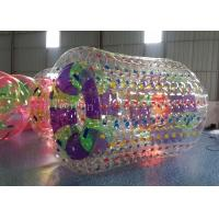 Wholesale 1.0mm PVC Inflatable Water Roller 2.8m Long 2.4m Diameter Dark Blue from china suppliers