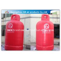 Wholesale Large Gas Cylinder Red Inflatable Advertising Signs 4mH Commercial Display from china suppliers