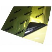 China Golden Aluminum Foil Butyl Car Sound Damping Material 2.1mm Self adhesive on sale