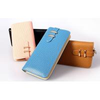 Wholesale light golden metal hasp lady wallets genuine cow leather factory direct from china suppliers