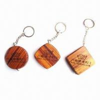 Wholesale Wooden Key Holder Measuring Tapes with 1m Length  from china suppliers