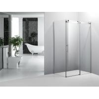 Wholesale Frameless Square Bathroom Shower Enclosures With Sliding Doors Stainless Steel Wheels from china suppliers