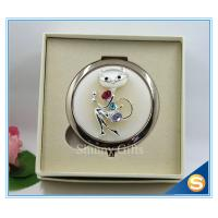 Wholesale Shinny Gifts High-Grade Fox Design Makeup Mirror Crystal Round Cosmetic Mirror from china suppliers