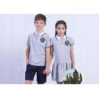 Plain Fabric Middle School Uniforms Moisture Wicking Breathable For Teenagers for sale
