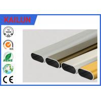 Wholesale Flat Oval Aluminum Tubing , Cutting 6061 Powder Coated Aluminum Extrusion Tube from china suppliers