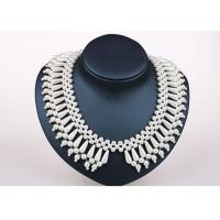 Wholesale 16 Inch Handcrafted Pearl Jewelry , Personalized Silver Handmade Necklace Jewelry from china suppliers