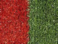 Wholesale Red colour Tennis Artificial Turf Grass for sideway , house yard from china suppliers