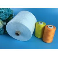 Quality 100% Polyester Yarn 30s/2 Raw White Polyester Spun Yarns For Garments Sewing for sale