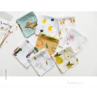 Wholesale Custom Printed Pure Cotton Handkerchiefs 100% Cotton 2 Layer Soft Feel Printed Baby Bibs Face Towel from china suppliers