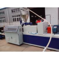 China PP / PE Electric Wire Corrugated Plastic Pipe Extrusion Line , Corrugated Pipe Extruder on sale