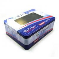 Wholesale Chocolate Tin Celebrations Chocolate Box With PET Window On Top , Coated With A Fine Layer from china suppliers