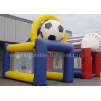 Quality 6.5M Outdoor Inflatable Sports Games , Inflatable Soccer Shot Game With Customized Printing for sale