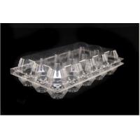 Wholesale Customize Clear Plastic Egg Cartons PVC with hinged Lid , Food grade from china suppliers