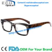 Wholesale China Mainland Acetate Eyewear Wooden Optical Glass Frame Custom made protective innovative from china suppliers