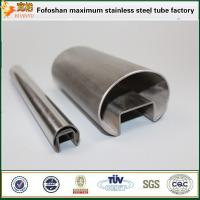Wholesale Foshan factory stainless steel 304 hollow pipes groove tube from china suppliers