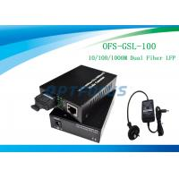 Wholesale Media Converter Gigabit 1310nm 100 km LFP Single Mode , Color Optional from china suppliers