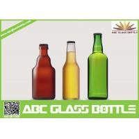 Wholesale Different design 330ml -750ml Round Amber Glass Beer Bottle from china suppliers