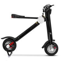 Quality Black Foldable Electric Scooter 200 - 250 Wattage Bluetooth Electric Scooter for sale