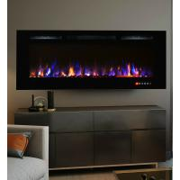 Wholesale 36 Inch Bliss Crystal Full Recessed Touch Screen Multi-Color Wall Mounted Electric Fireplace IF-36S Classic Flame from china suppliers