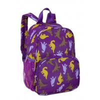 Wholesale Embroidery Kids School Backpacks For Boys Purple Double Shoulder Straps from china suppliers