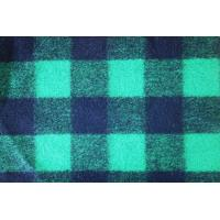 Wholesale Deep Green Tartan Material Check Wool Fabric For Winter Overcoat from china suppliers