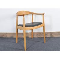 Wholesale Vintage Hans Wegner Wooden Restaurant Chair With Upholstered Leather Seat from china suppliers
