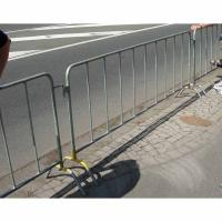 Wholesale 2100mm * 1100mm Weatherproof  Barricade Steel Fence Systems With Bridge / U / Flat Base from china suppliers