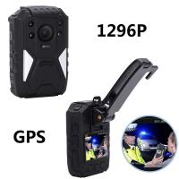 Quality H.264 1296P True HD Video Security Guard Body Camera With GPS Recording for sale