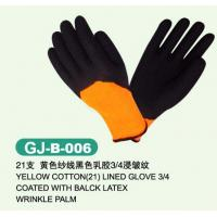 Wholesale Customized S, M and L Cotton thumb and finger latex Coated Work Glove from china suppliers