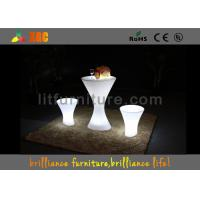Wholesale LED Illuminated Furniture Bar Table With Glass Top / Lithium Battery from china suppliers