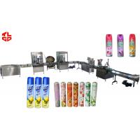 Wholesale Air Freshener Aerosol Filling Equipment / Automatic Aerosol Filling Line High Speed from china suppliers