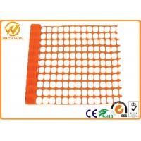Wholesale Eco Friendly Plastic Barrier Fencing , Construction Safety Plastic Mesh Netting from china suppliers