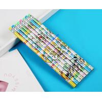 Wholesale shrinkable film printed wooden pencil, CMYK printed HB wooden pencil from china suppliers