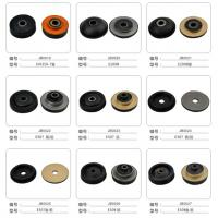 Quality R200 Hyundai Excavator Anti Vibration Rubber Mounts Black Round / Long for sale