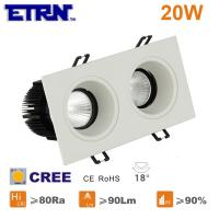 Wholesale ETRN Brand CREE COB Square 2.5 inch 10W x2 LED Downlights Ceiling Lights Recessed Lights from china suppliers