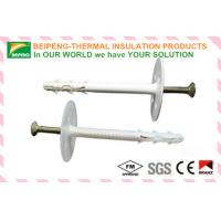Wholesale White Insulation Anchor 8mm * 82mm with galvanized steel screw and nylon disk from china suppliers