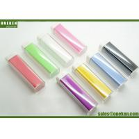 Wholesale Full Color Lipstick Shaped 2200mAh 2600mAh 18650 Power Bank Green / Purple / Yellow from china suppliers