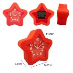 Buy cheap star shape alarm clock table clock from wholesalers