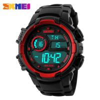 Wholesale Back Outdoor Sport Watches , Stylish Sports Watches Large Dial Red from china suppliers