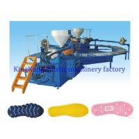 Wholesale Auto Horizontal TPR Sole Moulding Machine / Shoe Making Equipment Rotary Type from china suppliers