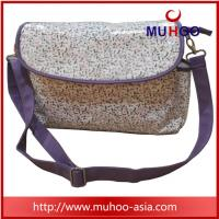 Wholesale fashion flower canvas designer baby girl diaper bag for mons from china suppliers