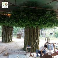 Buy cheap UVG huge banyan artificial decorative trees with hollow trunk for school library landscaping GRE068 from wholesalers