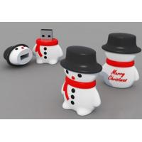 Wholesale Promotional usb flash drive factory supply cartoon usb2.0 christmas pen drive snowman usb from china suppliers