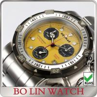 Buy cheap Luxury fashion Stainless Steel Sports Watch , multifunction chronograph men watch from wholesalers