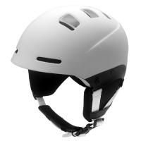 Wholesale White cool ski helmet, ABS side piece enforced snowboarding equipment from china suppliers